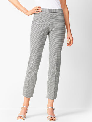 Tailored Gingham Crops