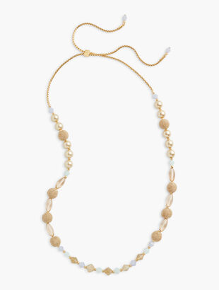 Basketweave Long Necklace