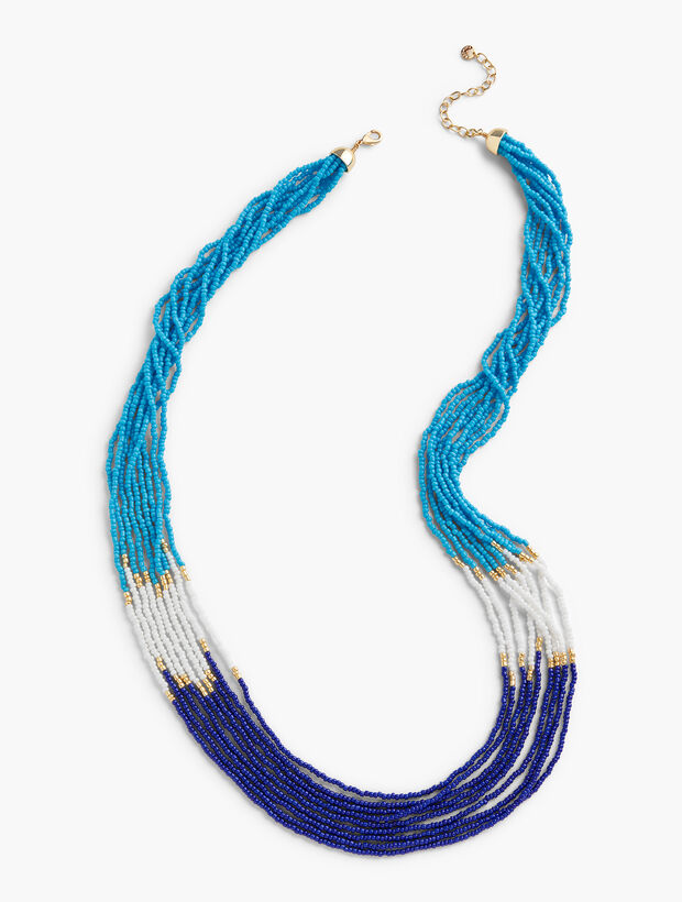 Long Multi-Strand Beaded Necklace