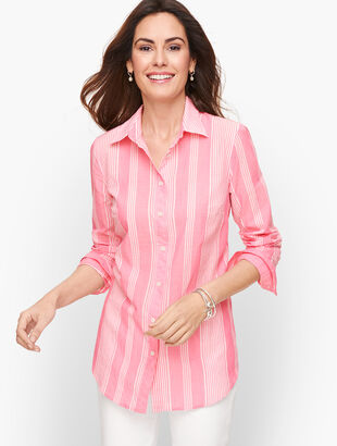 Classic Cotton Shirt - Breezy Stripes
