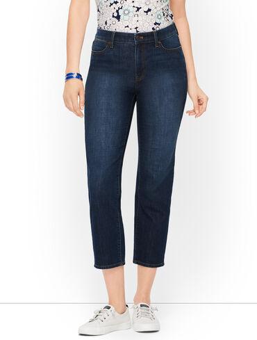 Straight Leg Crop Jeans - Baltic Wash