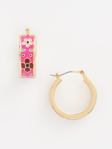 Cloisonné Hoop Earrings