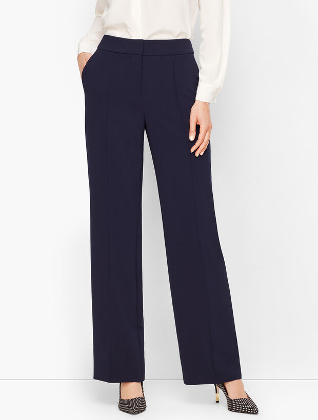 Stretch Crepe Wide Leg Pants by Talbots