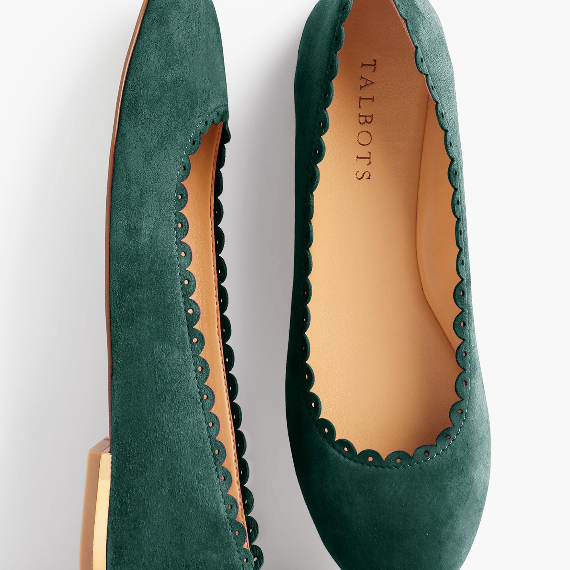 8b56be38d20 Penelope Scalloped Ballet Flats- Kid Suede Opens a New Window.