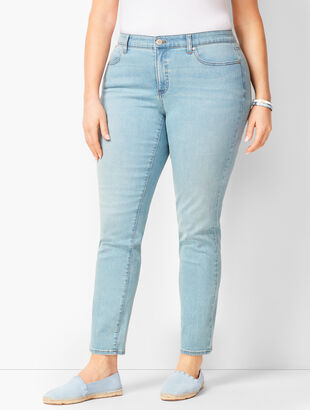 Plus Size Exclusive Slim Ankle Jeans - Solar Wash