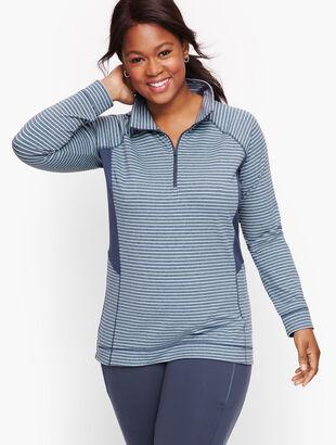 On the Move Stripe Half Zip Pullover