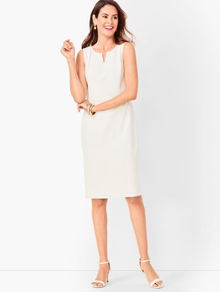 Corded-Stripe Sheath Dress