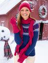 Reindeer-Print Fair Isle Sweater