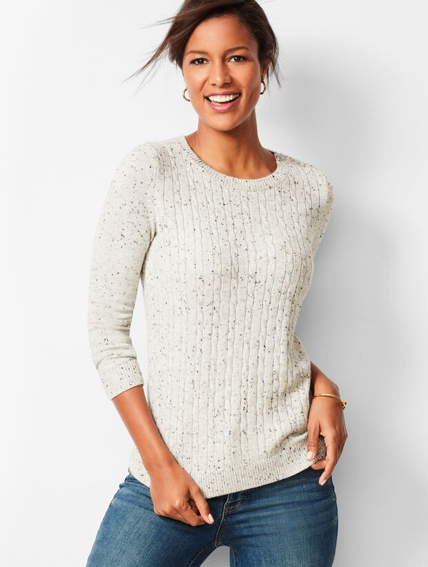 Cable Crewneck Sweater - Donegal