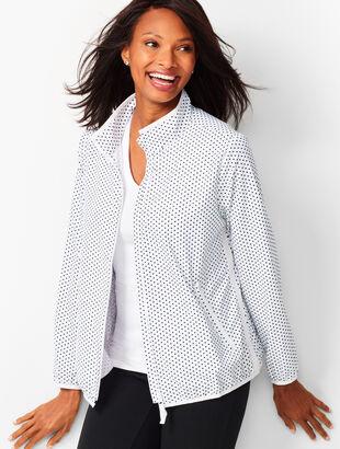 Lightweight Stretch Dot Woven Jacket