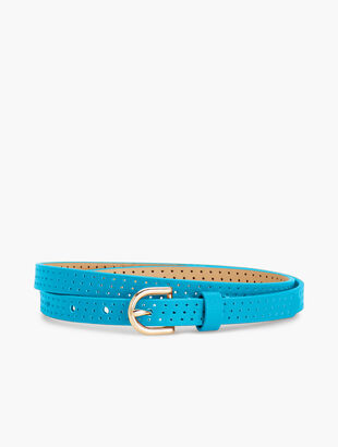 Skinny Leather Perforated Belt