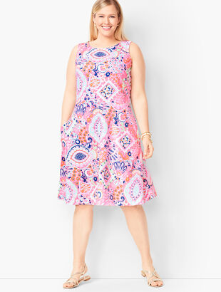 Edie Fit & Flare Dress - Paisley
