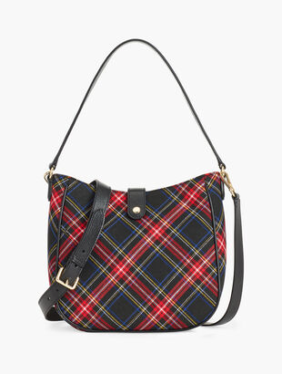 Plaid Hobo Bag