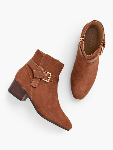 Dakota Suede Ankle Boots - Suede Solid