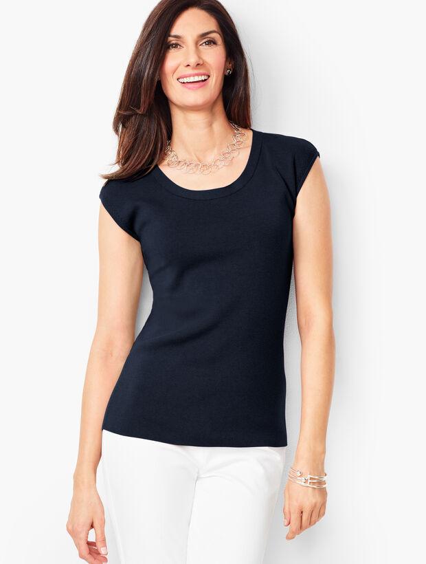 Cap-Sleeve Sweater