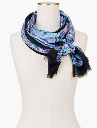 Speckled Paisley Oblong Scarf