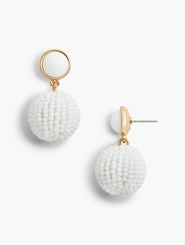 Beaded Sphere Earrings