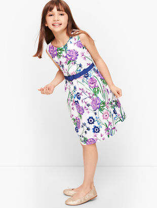 Girls Botanical Gardens Fit & Flare Dress