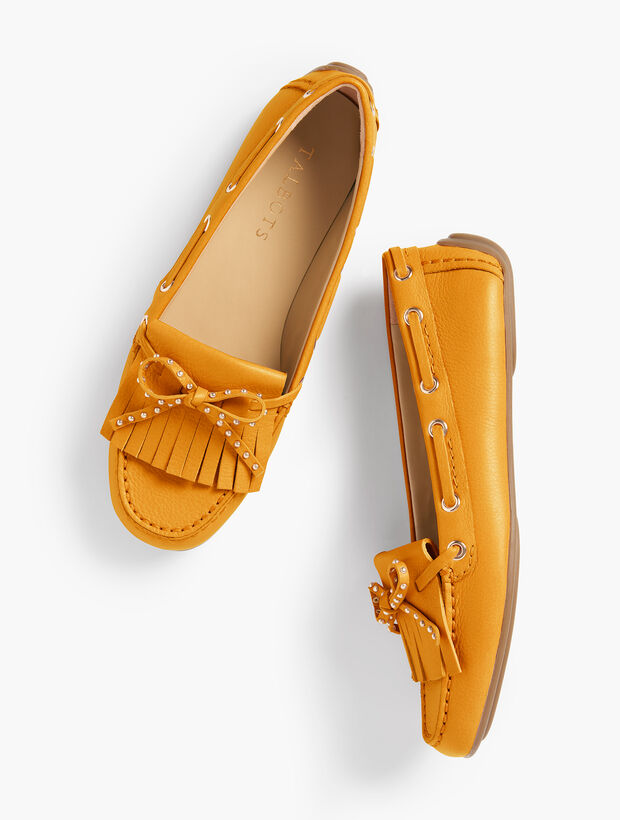 Everson Fringed Driving Moccasins