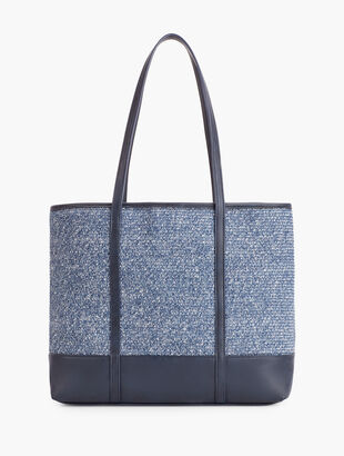 Packable Straw Tote Bag