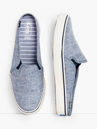 Keds® Double Decker Mule Sneakers - Chambray