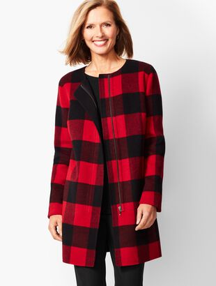 Buffalo Plaid Double-Face Topper
