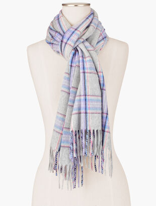 Pure Cashmere Scarf - Classic Plaid