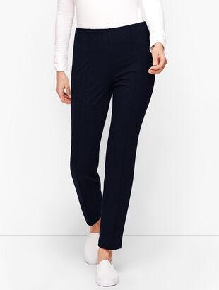 Side Zip Slim Leg Yoga Pants