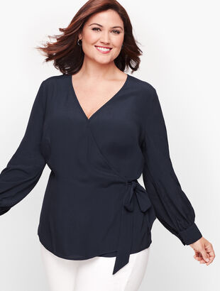 Poet Sleeve Wrap Top