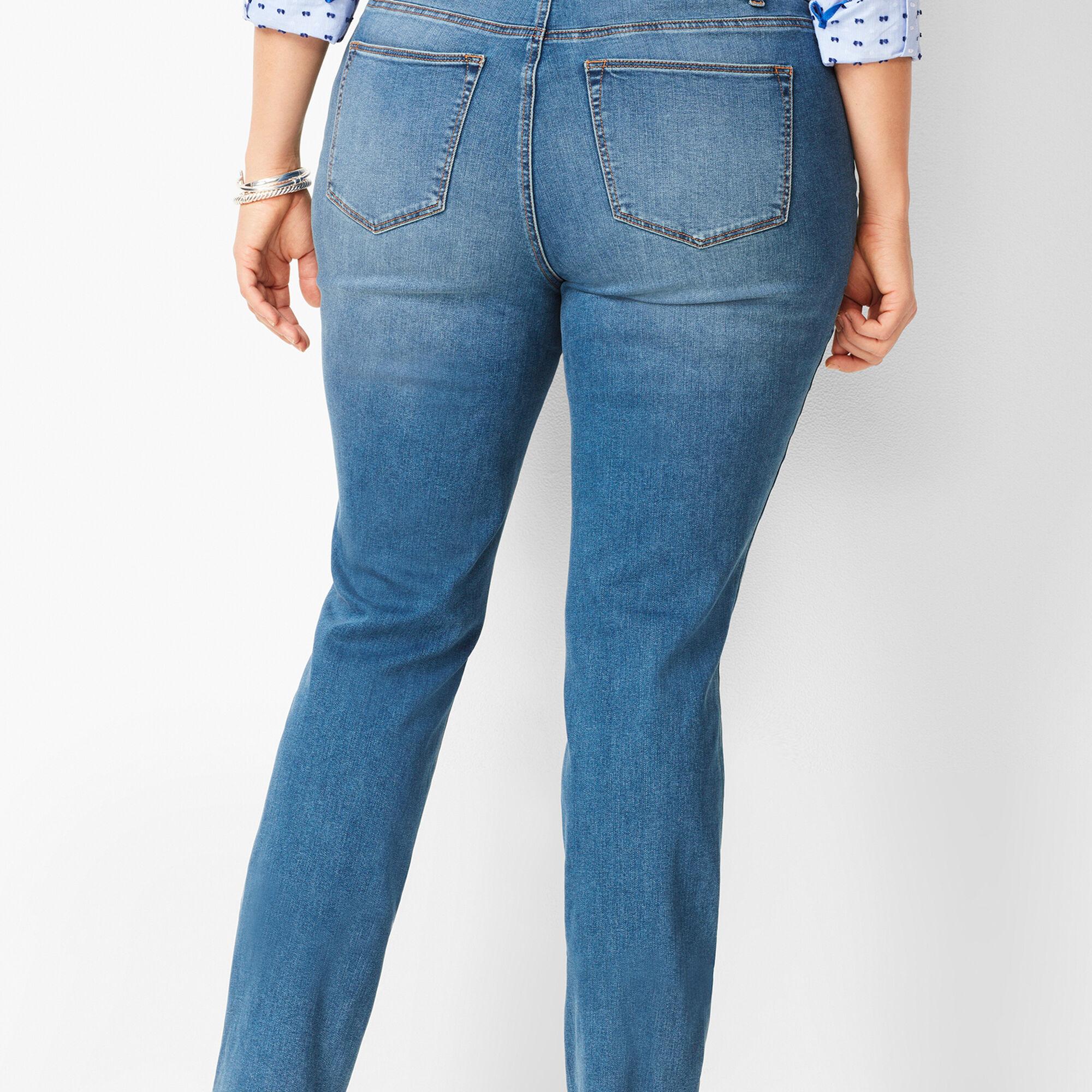 f095db7bb6cb3 High-Waist Straight-Leg Jeans - Aurora Wash