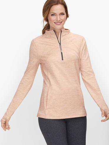Half Zip Mock Neck Pullover