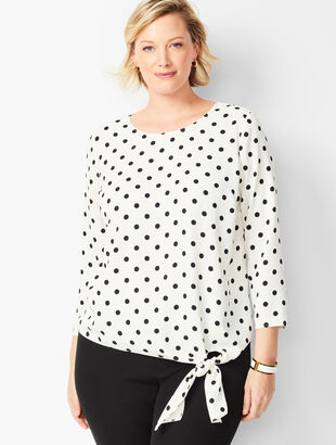 Side-Tie Top - Dot Print