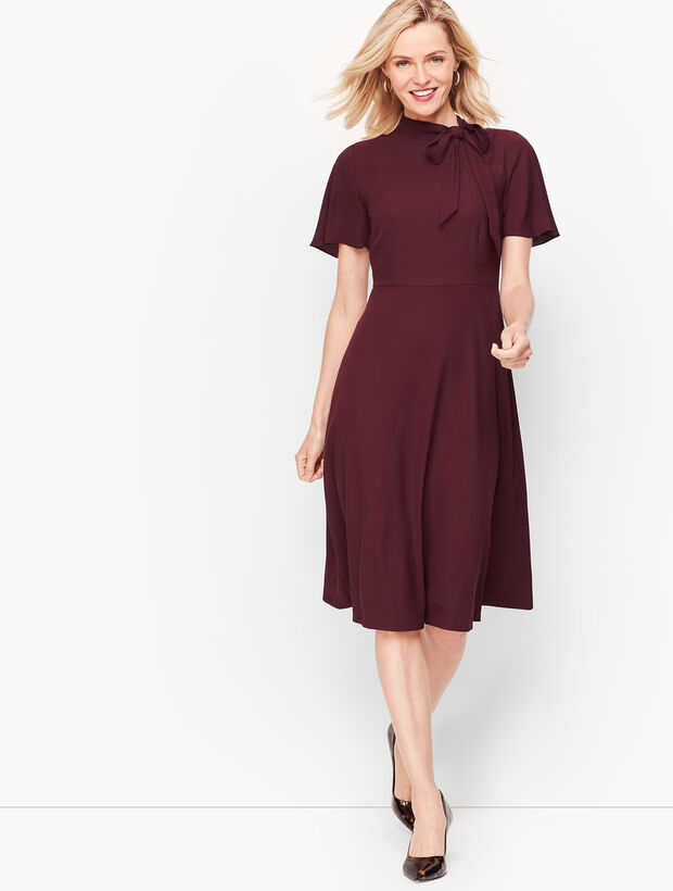 Hadley Crepe Fit & Flare Dress