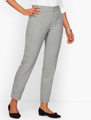 Talbots Hampshire Ankle Pants - Heathered Double Crepe - Curvy Fit