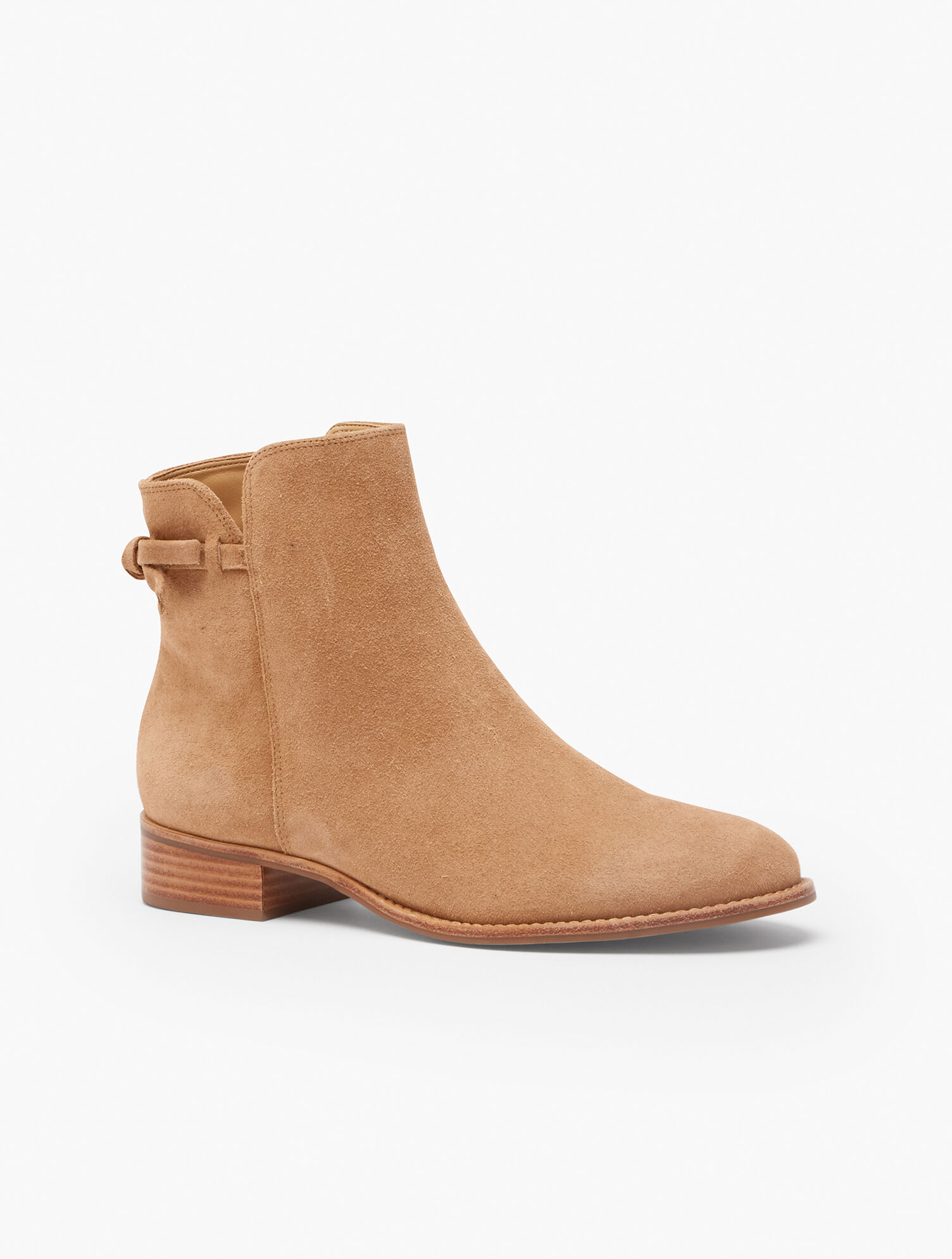 Tish Tie-Detail Ankle Boots - Suede