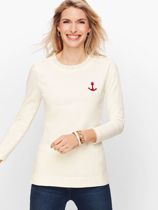 Pleat  Neck Anchor Top