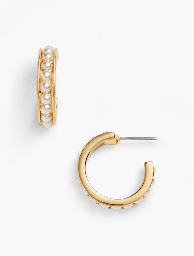 Classic Cabochon Hoop Earrings