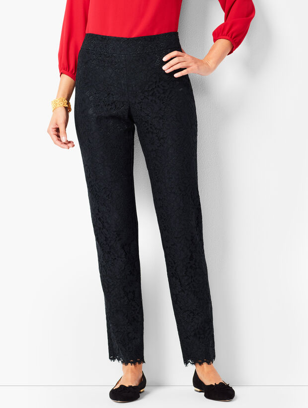 Talbots Chatham Ankle Pants - Floral Lace
