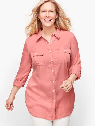 Tencel™ Button Front Shirt