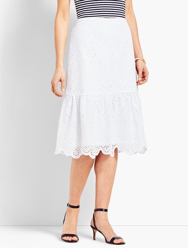ac4a06550 Images. Eyelet Fit-and-Flare Skirt