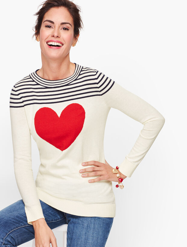 Button Back Heart Sweater