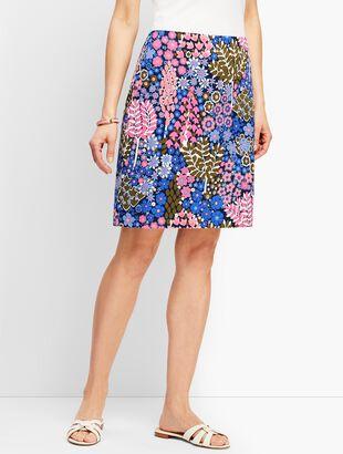 Cotton Canvas Skirt