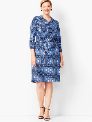 Jersey Shirt Dress - Baroque Print