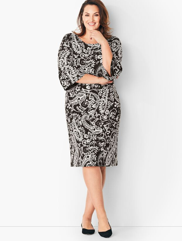 0159bf7661ba Images. Crepe Shift Dress - Paisley