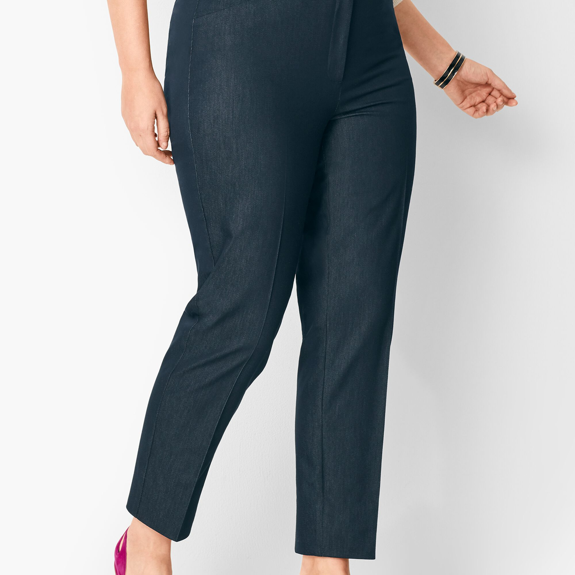 31dcb30da6 Plus Size High-Waist Tailored Ankle Pants - Polished Denim Opens a New  Window.