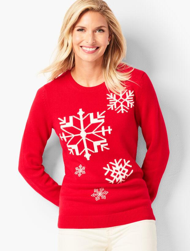 Snowflake Crewneck Sweater