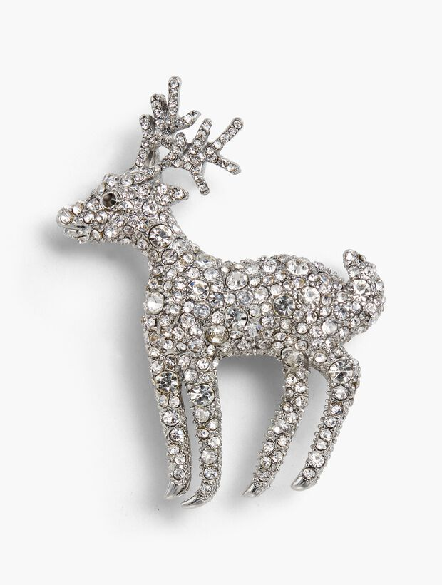 Holiday Brooch Collection - Crystal Deer
