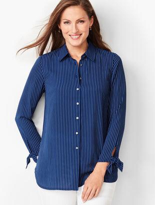Tie-Sleeve Shirt - Stripe