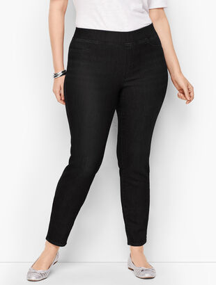 Sculpt Pull-On Denim Jeggings - Black