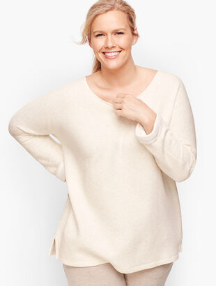 Twist Back Dolman Sleeve Pullover
